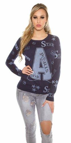 Dámsky sveter ,,A,, | Tmavomodrá