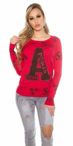 Dámsky sveter ,,A,, | Červená