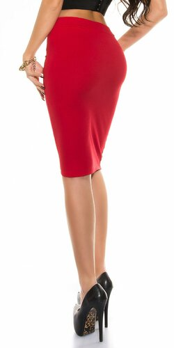 Dámska sukňa KouCla ,,pencil skirt,, Červená
