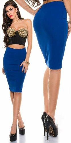Dámska sukňa KouCla ,,pencil skirt,, Tmavomodrá