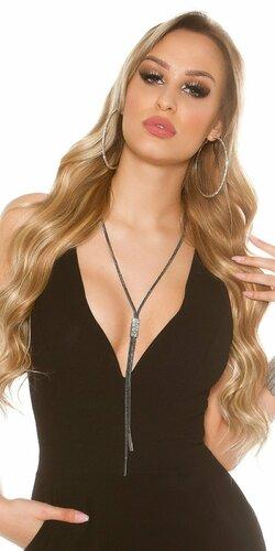 Dámsky náhrdelník s kamienkami