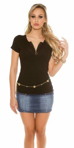 Dámske tričko s krátkymi rukávmi Čierna