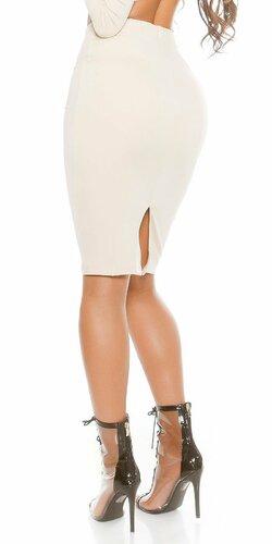 Dámska úzka sukňa KouCla Béžová