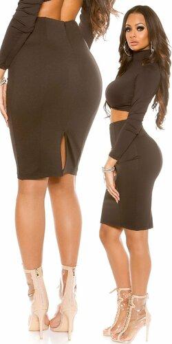 Dámska úzka sukňa KouCla | Čierna