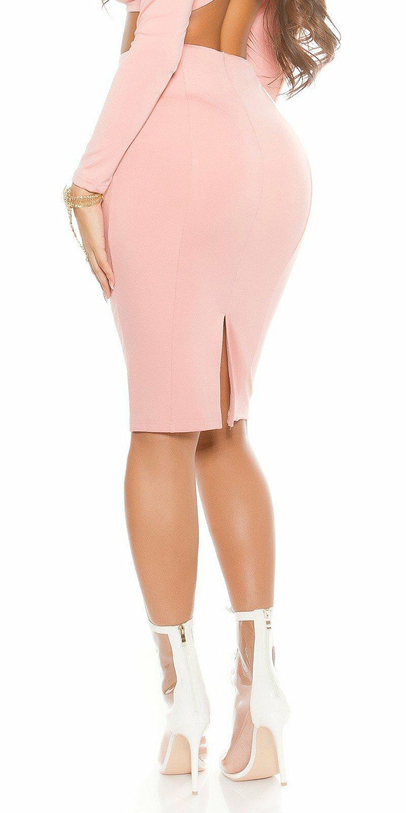 de17fe4d09dc ... Dámska úzka sukňa KouCla Bledá ružová ...