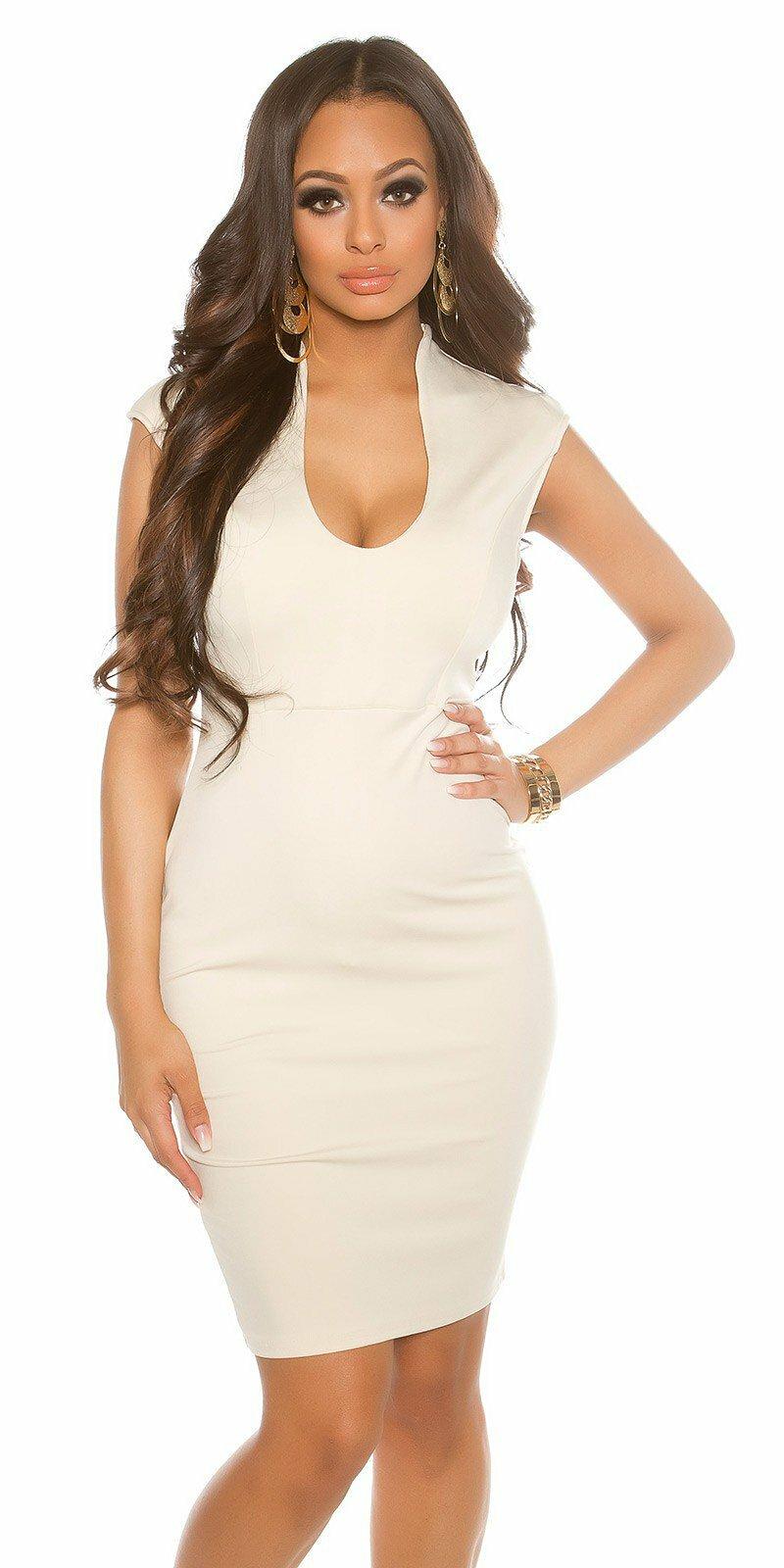 eb1e68748e8a Dámske mini šaty KouCla  Veľkosť Univerzálna (XS S M) Farba Béžová
