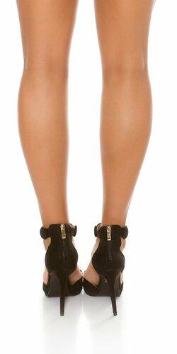 Dámske vysoké sandále Čierna