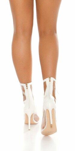 Dámske priehľadné topánky Biela