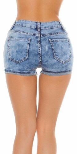 Dámske zvýšené džínsové kraťasy