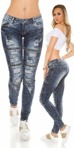 Dámske úzke džínsy ,,used look,,