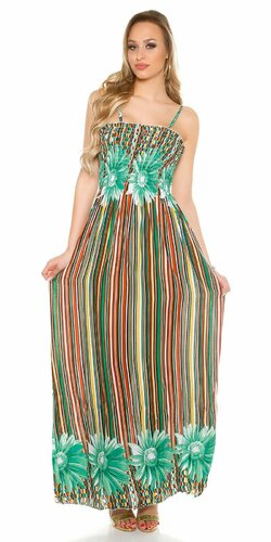 Dámske letné maxi šaty Zelená