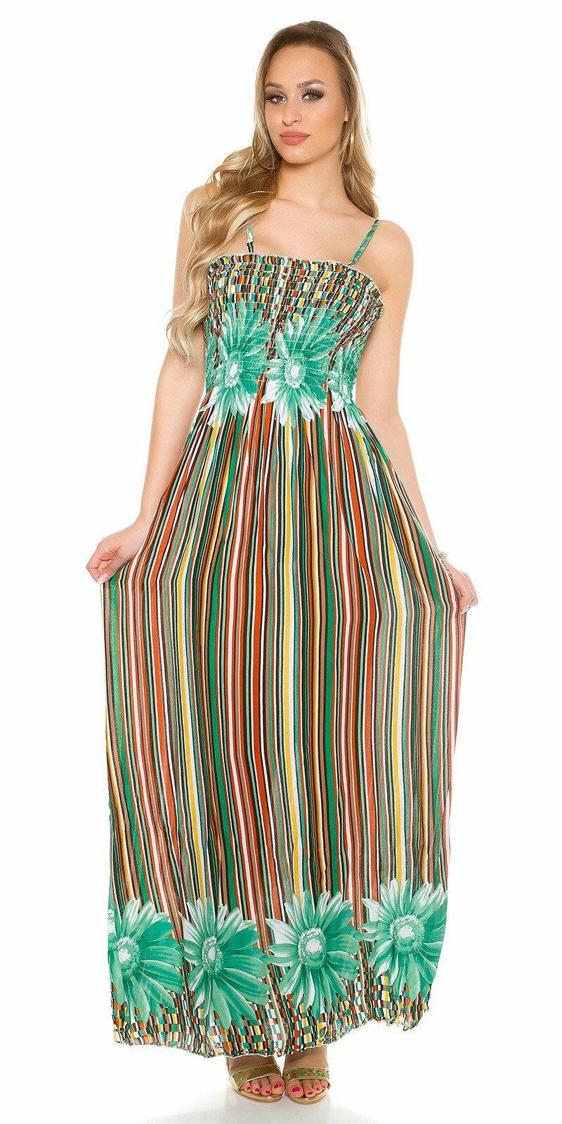 Dámske letné maxi šaty  Veľkosť Univerzálna (XS S M) Farba Zelená e900d65c3f3