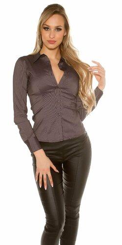 Dámska košeľa s dlhými rukávmi | Čierna