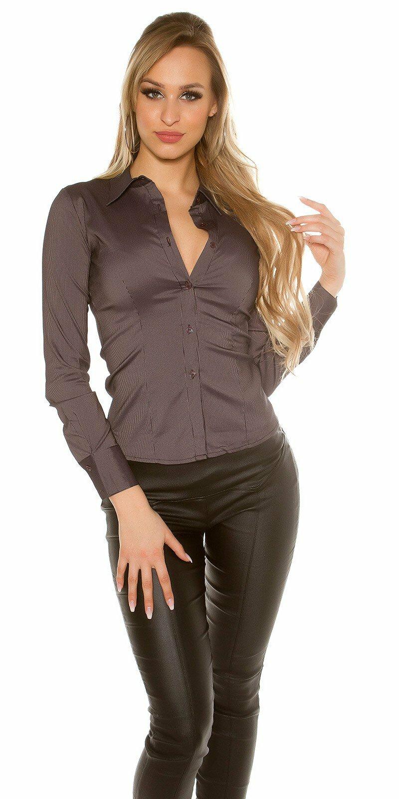 Dámska košeľa s dlhými rukávmi #Veľkosť L Farba Čierna