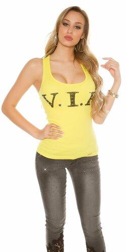 Dámske bavlnené tielko ,,VIP,, | Žltá