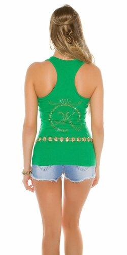 Dámske tielko s kamienkovým logom Koucla | Zelená