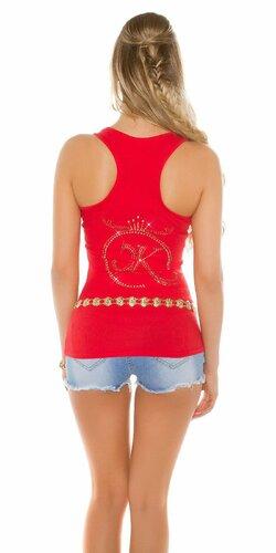 Dámske tielko s kamienkovým logom Koucla | Červená