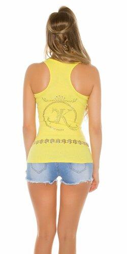 Dámske tielko s kamienkovým logom Koucla | Žltá