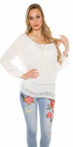 Štýlové ležérne dámske letné tričko | Biela