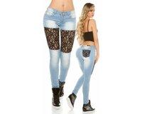 Čipkované džínsy s kamienkami KouCla