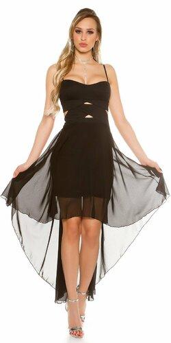 Dámske mini šaty s vlečkou KouCla Čierna
