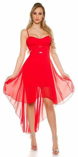 Dámske mini šaty s vlečkou KouCla Červená