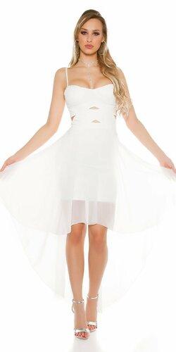 Dámske mini šaty s vlečkou KouCla Biela