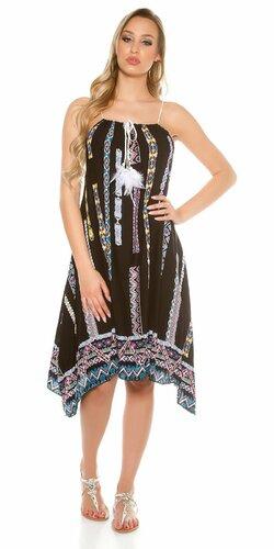 Dámske asymetrické letné šaty