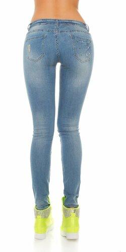Dámske džínsy s kamienkovými flitrami
