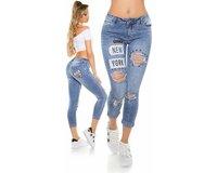 Dámske džínsy ,,NEW YORK,, použitého vzhľadu