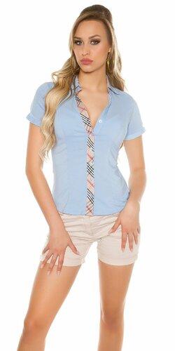 Dámska košeľa s krátkymi rukávmi | Modrá