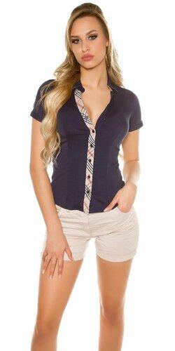 Dámska košeľa s krátkymi rukávmi
