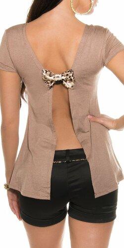 KouCla tričko so sexy zadnou stranou | Cappuccino