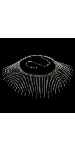 Štýlový náhrdelník Strieborná
