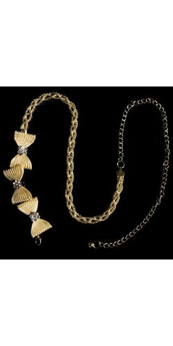 Dámsky mašličkový opasok Zlatá