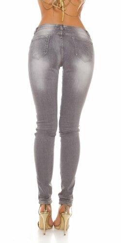 Sexy džínsy 2v1 šedé/maskáče