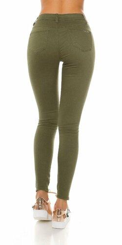 Dámske džínsy s rozparkami ,,army look,,