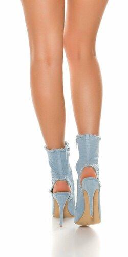 Členkové denim topánky