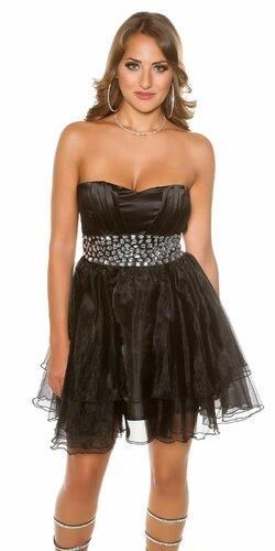 Dámske štýlové kokteilové šaty Čierna