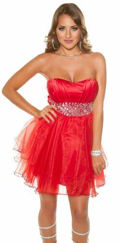 Dámske štýlové kokteilové šaty | Červená