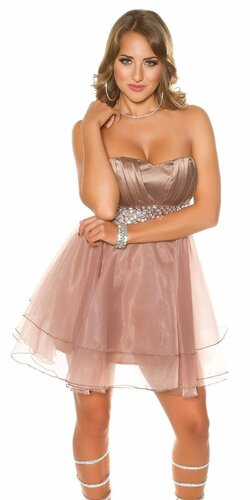 Dámske štýlové kokteilové šaty | Cappuccino
