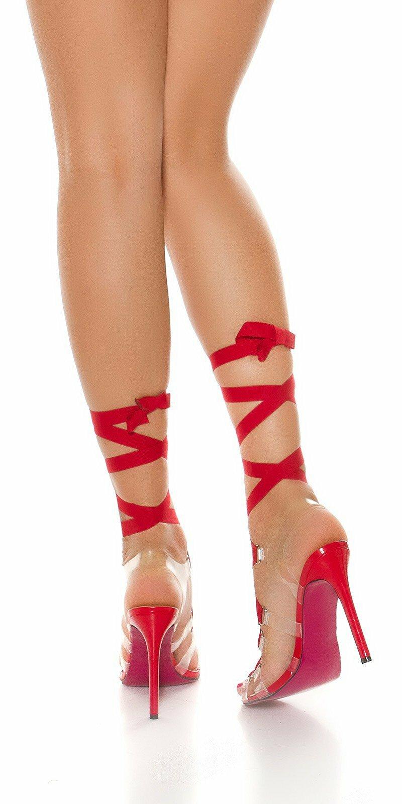 Vysoké dámske sandále