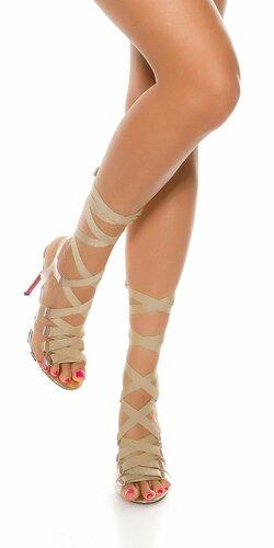 Vysoké dámske sandále | Zlatá