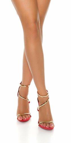 Dámske moderné sandále Červená