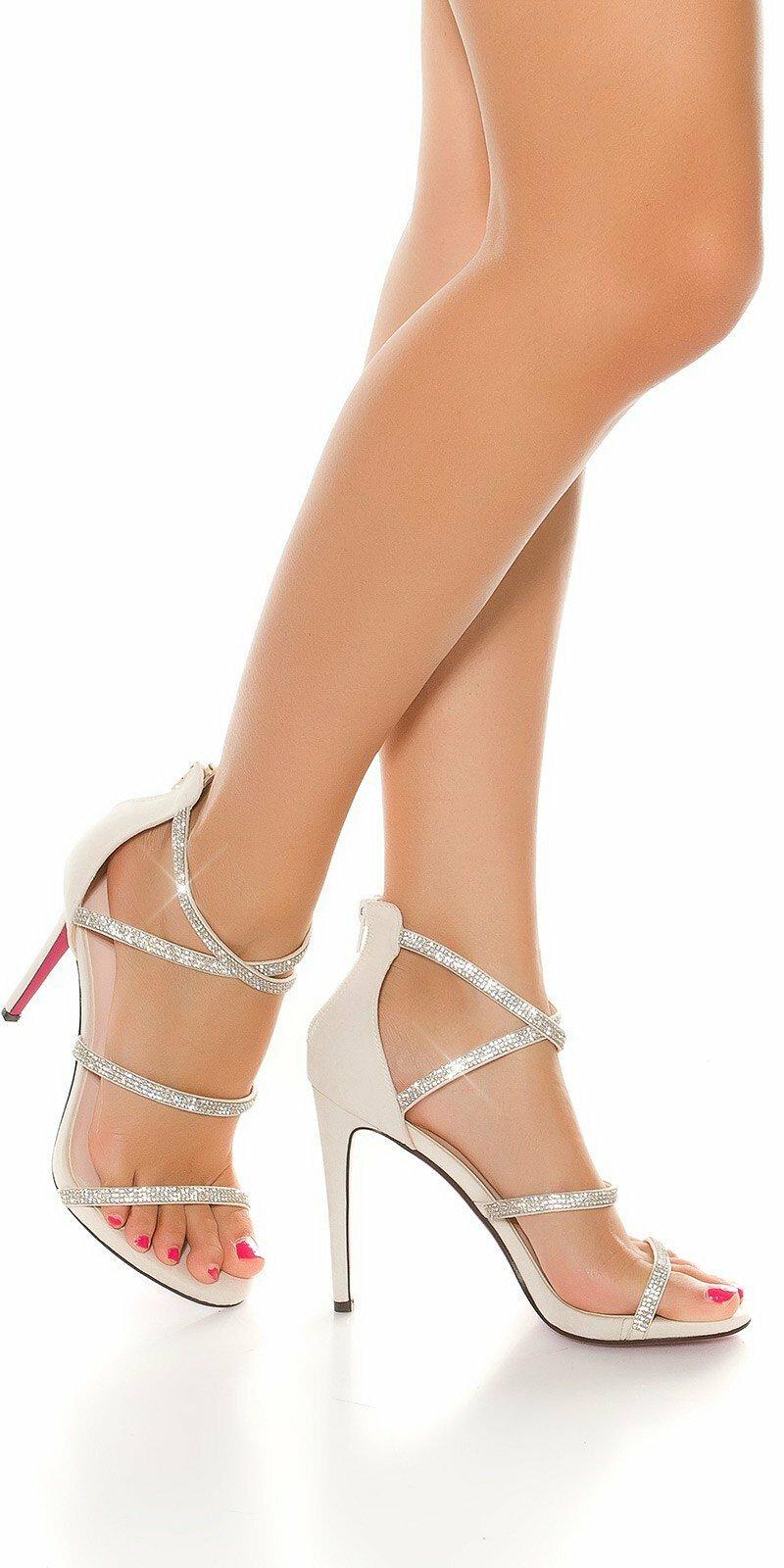 75accd9103c3 Dámske sandále s kamienkami  Velkosť topánok 37 Farba Béžová