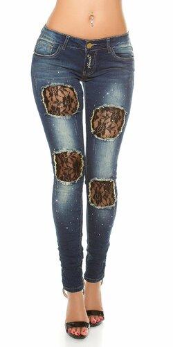 Dámske džínsy s čipkou