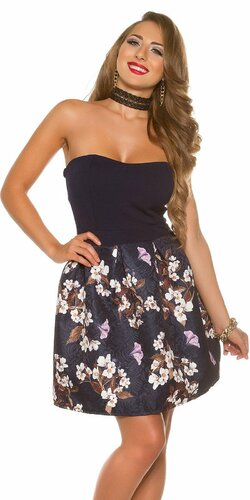 Krásne dámske šaty s kvetinovou potlačou