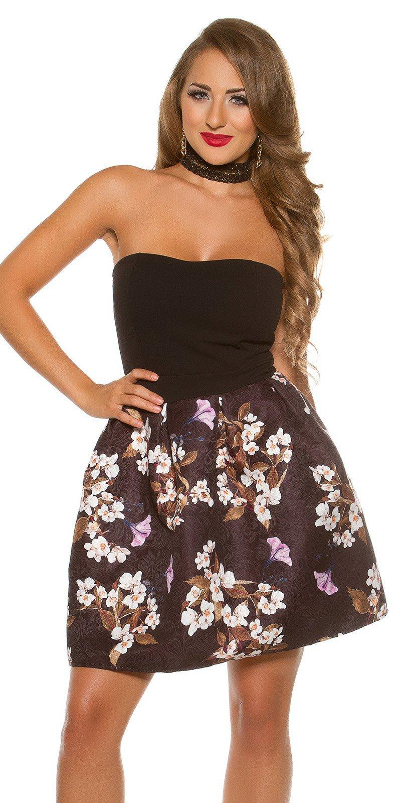 67b16196e513 Krásne dámske šaty s kvetinovou potlačou - NajlepsiaModa.sk
