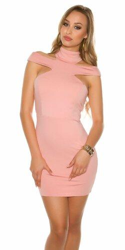 Štýlové dámske mini šaty KouCla Staroružová