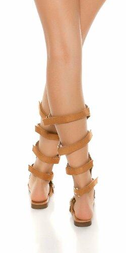 Dámske sandále s aplikáciami